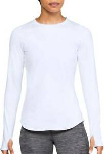 New Under Armour Womens ColdGear Armour Compression Crew Long Sleeve White Large
