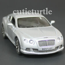 Kinsmart 2012 Bentley Continental GT Speed 1:38 Diecast Toy Car Silver