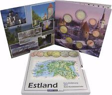 Estland 2011 Euro KMS 1 Cent bis 2 Euro Kursmünzen Sondersatz im Folder