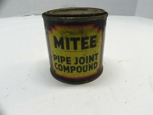 MITEE PIPE JOINT COMPOUND VINTAGE CAN TIN PARTIALLY FULL