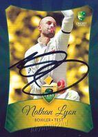 ✺Signed✺ 2016 2017 AUSTRALIAN Cricket Card NATHAN LYON Big Bash League