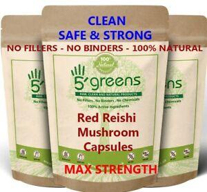 Reishi Mushroom Dual Extract Capsules ( 20:1 equivalent to 10,000mg ) Vegan Caps