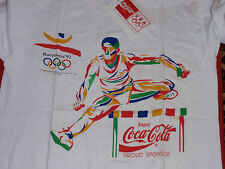 VINTAGE COCA COLA T SHIRT BARCELONA OLYMPICS 1992 NEW  WITH TAGS  SIZE MEDIUM