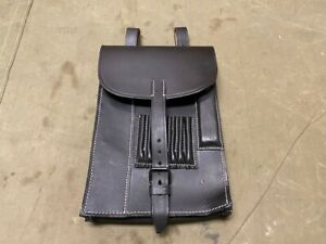 96N WWII GERMAN OFFICER NCO M31 BLACK LEATHER MAP CASE