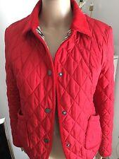 Aquascutum 100% Silk Ladies Quilted Jacket, Classic Red, UK 8 (S) RRP£295