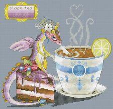 Black Tea Dragon - Cross Stitch Chart - Free Postage