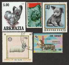 Skye Terrier * Int'l Dog Postage Stamp Collection * Unique Gift*