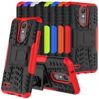 For LG Rebel 4 LTE L212VL L211BL Shockproof Case Armor Hard KickStand Cover