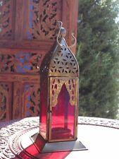 Marocchina Ferro e Vetro Lanterna Da Appendere TEA LIGHT tealight titolare Home & Garden
