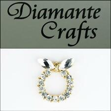 3D Ring with Butterfly Gold Alloy Clear Diamantes DIY Phone Case Deco 2013R