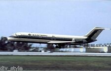 Eastern Airlines DC9 Whisperjet airplane postcard jet airliner