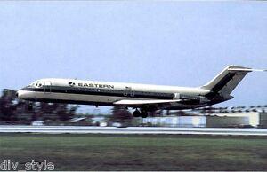 Eastern Airlines DC9 Whisperjet airplane postcard jet airliner