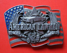 "VTG 1992 Siskiyou American Lawman Belt Buckle""To Serve and Protect"""