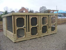 DOG KENNELS & RUNS BLOCK OF 4 ***UK DELIVERY AVAILABLE***