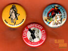 """Set of three 1"""" The Lone Ranger pinback buttons pins reproduction vintage"""
