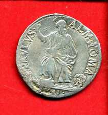 (VP.01) VATICAN PAUL V TESTON D'ARGENT 1611 (TTB) RARE