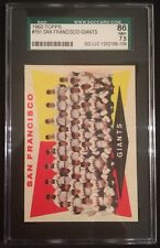 1960 TOPPS SAN FRANCISCO GIANTS TEAM #151--SGC 86=7.5=NEAR MINT-PLUS--CENTERED!