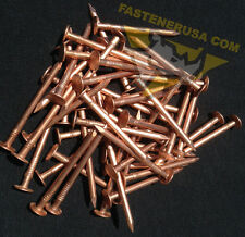 "2"" Smooth Plain Shank Solid Copper Roofing Nails 10 gauge (50 pcs)"