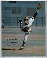 1971 STEVE BLASS SIGNED Vintage Baseball PHOTO Pittsburgh Pirates World Champs 1