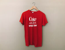 Vtg 1970s Coke Adds Life To Wives' Day T Shirt Thin Soft 70s Advertising *L/Xl