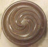 6 Vintage Taupe Plastic Buttons for Jacket or Coat Retro New Old Stock on Card