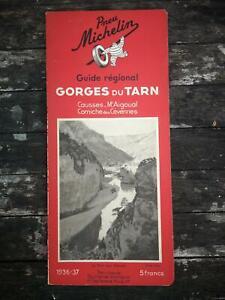 Guide Michelin des Gorges du Tarn - Corniche des Cévennes 1936 - 1937