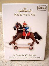 2010 Hallmark Ornament A Pony For Christmas 13th in Series NIB