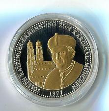 Medaille Papst Benedikt XVI Joseph Ratzinger Ern. Kardinal in München 1977 M_720