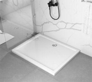 Duschwanne Duschtasse Rechteck bodengleich 100 x 80 x 5 x 3 cm Ablauf flach Casp