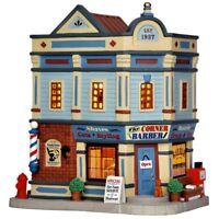 Lemax THE CORNER BARBER SHOP #65105 BNIB Porcelain Illuminated Building