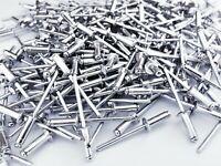 1000 x Blindnieten 3x14 mm Alu/Stahl Flachkopf DIN7337 Popnieten Nieten