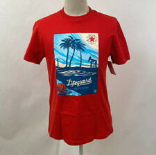 Obey Men's Recycled Organic T-Shirt Lifeguard Not on Duty Red Size M NWT Rose