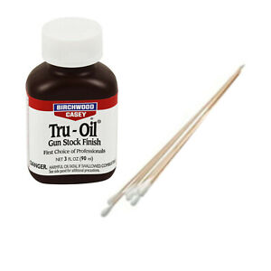 Birchwood Casey Tru-Oil Gun Stock Finish / Stain 3oz plus Free Swabs