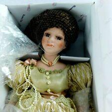 "Duck House Heirloom Dolls D18-573 ANIKA Porcelain Head 18"" Stand Dress Elegant"