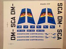 Baade-152 Decals VEB PLASTICART