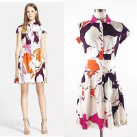 Diane von Furstenberg Scarlet Dress Sz 4 Floral Eden Garden S DVF $385