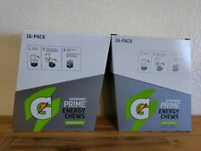 Gatorade Prime Energy Chews, Green Apple Lot of 32 packs 2 boxes
