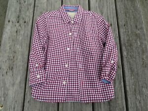 Mini Boden ~ Boys Red Plaid Button Shirt ~ Size 3-4