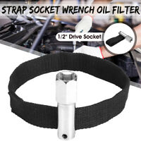 """1/2"""" Square Drive / 21mm 120mm Capacity Oil Filter Remover Strap Wrench Tool"""