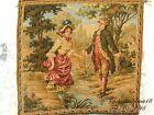 VINTAGE SIGNED  MADE IN FRANCE COURTING LOVE SCENE TAPESTRIES
