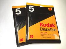 """KODAK 2 PACK 5 DISQUETTES DISK 5.25"""" 5P1/4 2S 2D DOUBLE FACE DOUBLE DENSITE NEUF"""