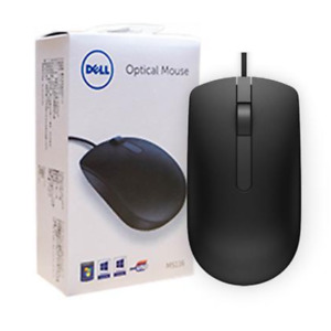 Genuine Dell USB Optical Scroll Wheel Black Mouse - MS116