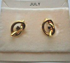 Pierced BIRTHSTONE Earrings Knot RHINESTONES  July
