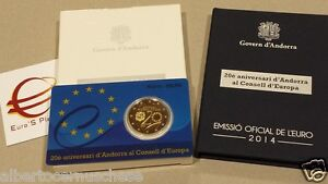 2 euro 2014 Fs BE PP proof Andorra Andorre андорра 20 Consiglio Consell Europe