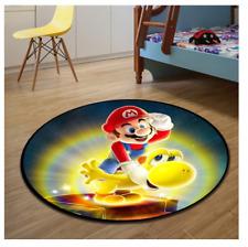 Super Mario & yoshi Circle Floor Rug Carpet Doormat Non-slip FACTORY DIRECT!