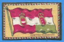 Early 1900's Tobacco Felt Country Flag Austro - Hungary variation