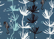 Tide by Jane Dixon Cotton Quilt Fabric Seahorse in Seaweed    Andover  Bfab