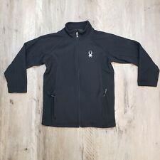 Spyder YXL Black Full Zip Sweater Fleece Jacket Youth Extra Large Boys Kids