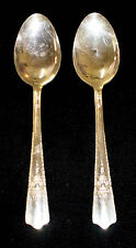 Lot of 2 Harmony House AA+ Silver Plate Serving Spoons 1944 Maytime Pattern