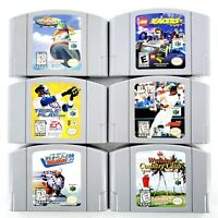 Nintendo 64 Games Lot Of 6 Lego Racers, Wave Race,Triple Play, Waialae Tested